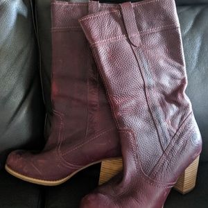 Timberland leather boots Red/wine color